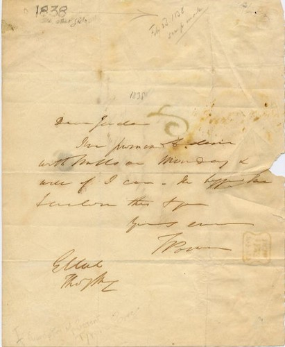 Power, Tyrone I (1795-1841) - Letter from 1838 <b>SOLD