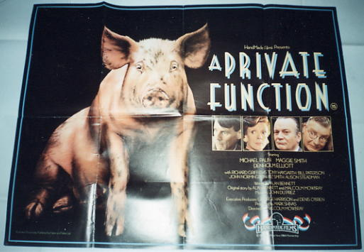 Private Function, A - British Quad Poster - Palin, Smith