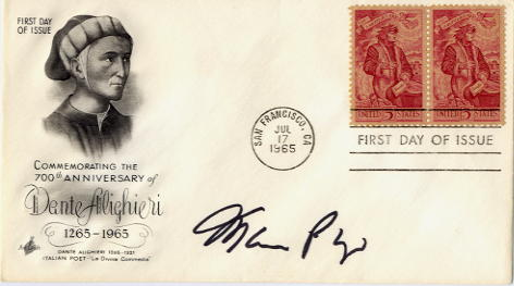 Puzo, Mario - Author of 'The Godfather' signed FDC <b>SOLD