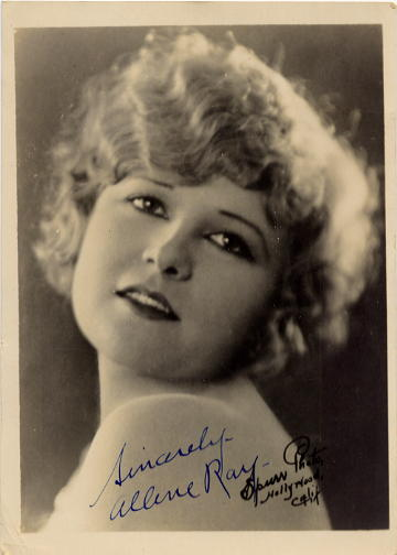 Ray, Allene (1901-1979) - Star of Silent Screen <b>SOLD</b>
