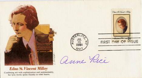 Rice, Anne (1941- ) FDC signed author Interview With The Vampire