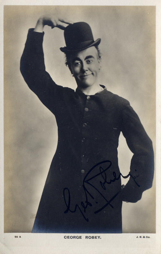 Robey, George (1869-1954) - autographed photo postcard SOLD