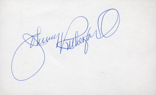 Rutheford, Johnny - Autographed card