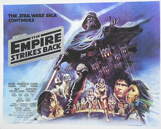 STAR WARS - EMPIRE STRIKES BACK - 1980 British Quad Poster