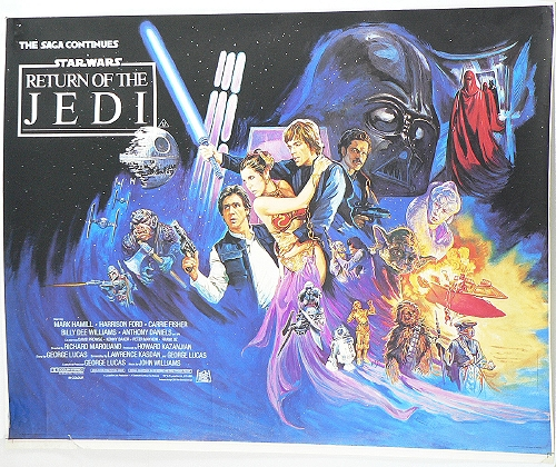 STAR WARS - RETURN OF THE JEDI - 1983 British Quad Poster