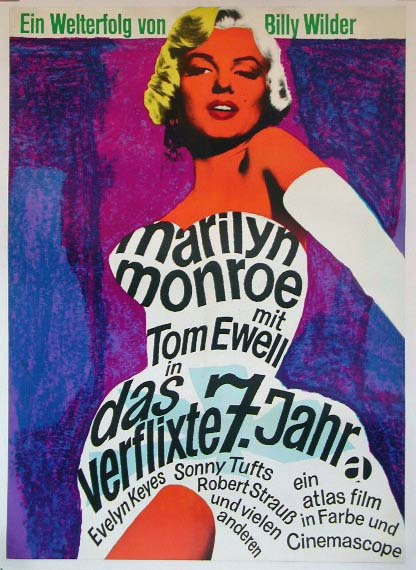 Seven Year Itch German R1964 Das Verflixte 7 Jahr Marilyn Monroe