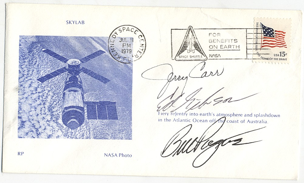 Skylab 4 - FDC - signed by Gibson, Pogue and Carr