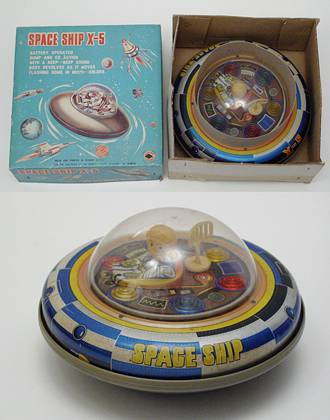 Space Ship X-5 - Boxed Toy