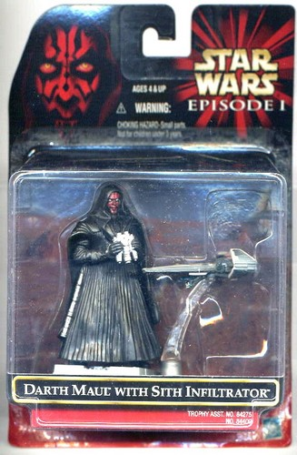 Star Wars Carded Figure - Dart Maul With Sith Infiltrator