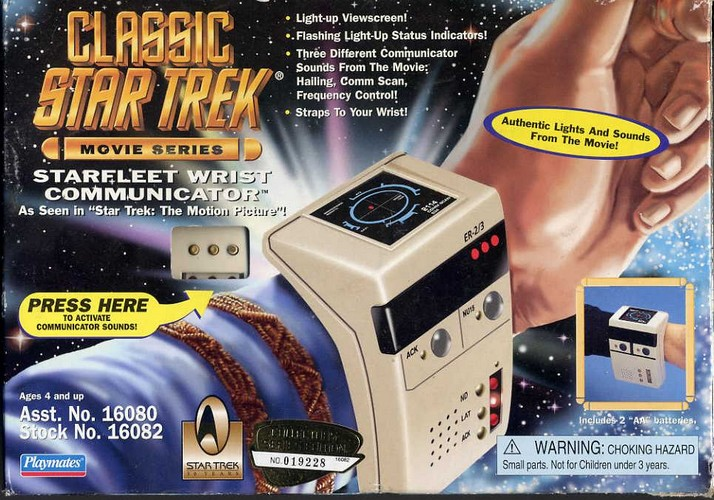 Star Trek Starfleet Wrist Communicator - Boxed