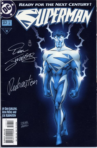 Superman #123 - Signed Glow in the Dark cover - DC Comic