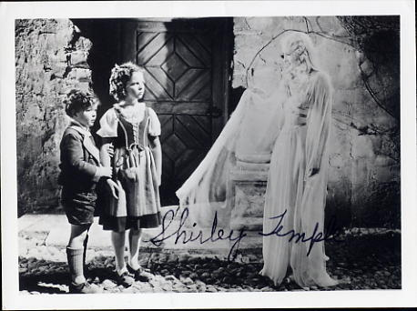 Temple, Shirley rare signed photo