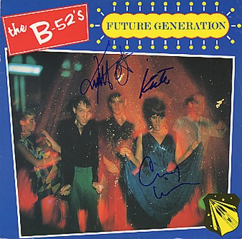 B-52's - LP signed In Person by band