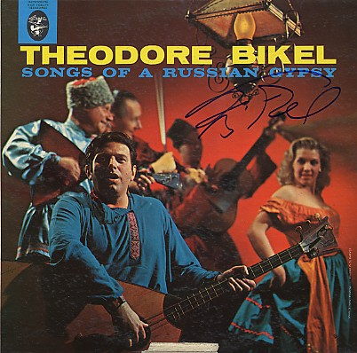 Theodore Bikel - LP signed In Person Songs of A Russian Gypsy