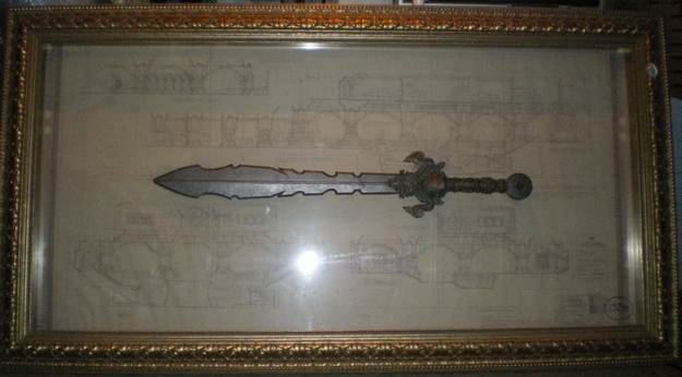 Tomb Raider Stone Monkey Sword Framed
