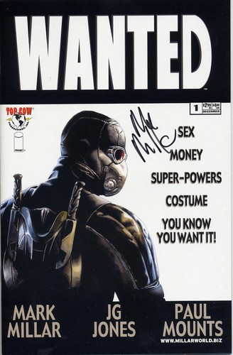 Wanted #1 - signed by Mark Millar
