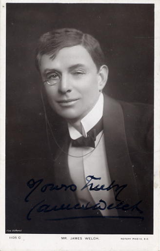 Welch, James - autographed postcard photo