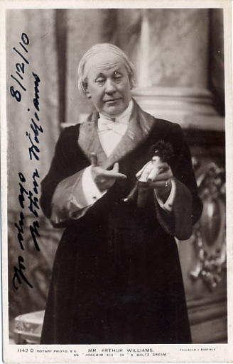 Williams, Arthur - autographed postcard photo