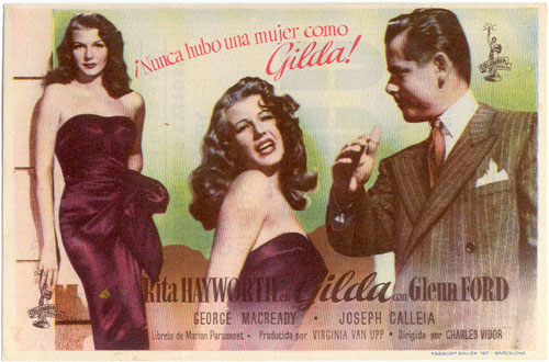 GILDA -Rita Hayworth, Glenn Ford - Spanish Herald